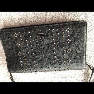 Coach studded crossbody wallet